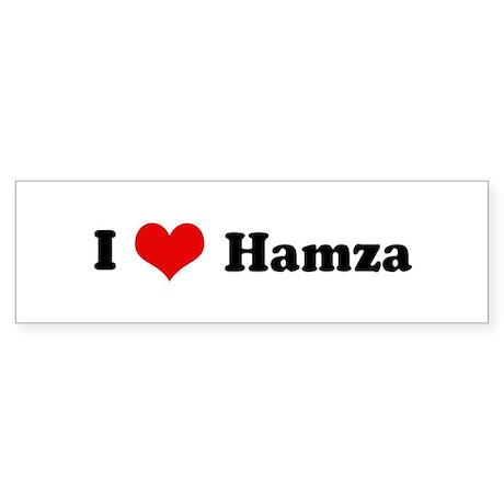 I Love Hamza Bumper Sticker