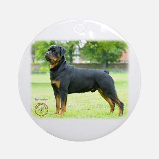 Rottweiler 8T039D-0 Ornament (Round)