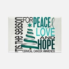 Christmas 1 Cervical Cancer Rectangle Magnet
