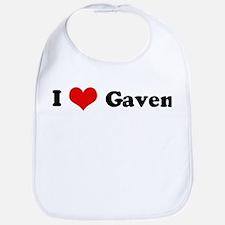I Love Gaven Bib