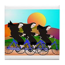 Catholic Nuns Christmas Tile Coaster