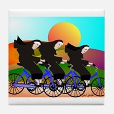 Catholic Nuns Christmas Tile Coaster
