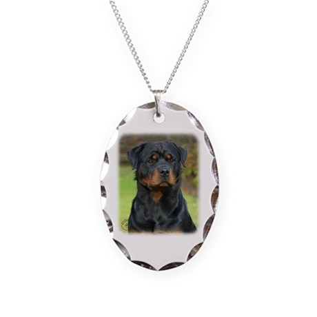 Rottweiler 9W044D-073 Necklace Oval Charm