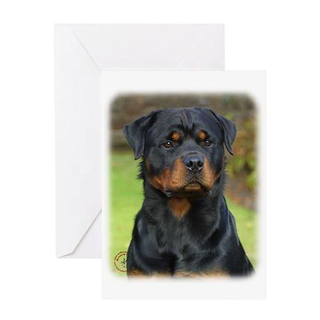 Rottweiler 9W044D-073 Greeting Card