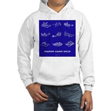 HamTees.com Morse Code Keys Hoodie
