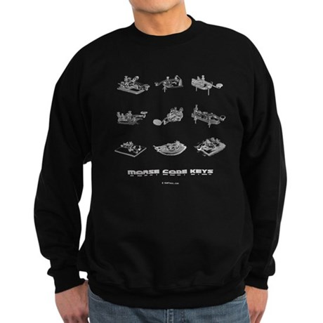 HamTees.com Morse Code Keys Sweatshirt (dark)
