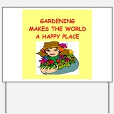 gardening Yard Sign