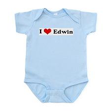 I Love Edwin Infant Creeper