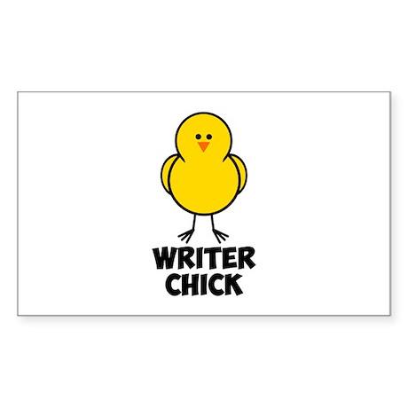 Writer Chick Sticker (Rectangle)