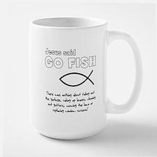 Jesus Said Go Fish Large Mug
