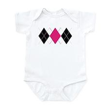 Pink and Black Argyle Infant Bodysuit