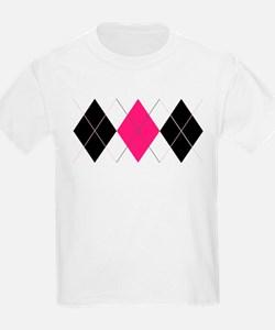Pink and Black Argyle T-Shirt