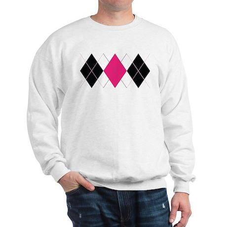Pink and Black Argyle Sweatshirt