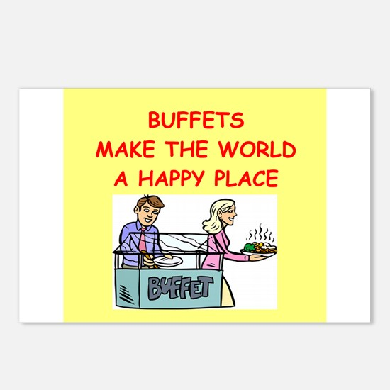 buffet Postcards (Package of 8)
