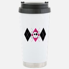 Cute Skully Argyle Travel Mug