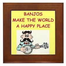 banjos Framed Tile