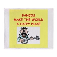 banjos Throw Blanket