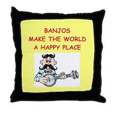 banjos Throw Pillow