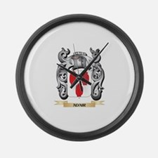 Adair Family Crest - Adair Coat o Large Wall Clock