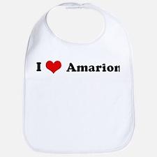 I Love Amarion Bib
