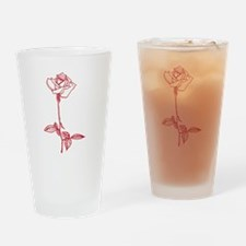 Long Stem Rose Drinking Glass