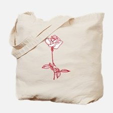 Long Stem Rose Tote Bag