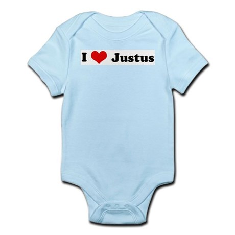 I Love Justus Infant Creeper