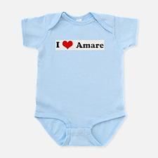 I Love Amare Infant Creeper