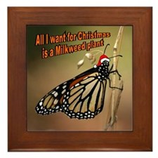 Holiday Monarch Butterfly Framed Tile