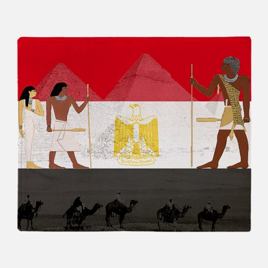 Egyptian Graphic Throw Blanket