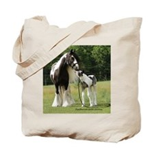 Gypsy Horse Mare and Foal Tote Bag