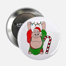 "Christmas Buddha Claus 2.25"" Button"