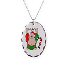 Christmas Buddha Claus Necklace