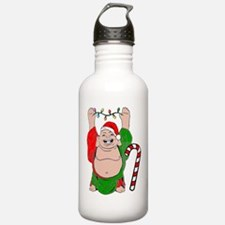 Christmas Buddha Claus Water Bottle