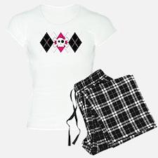 Cute Skully Argyle Pajamas