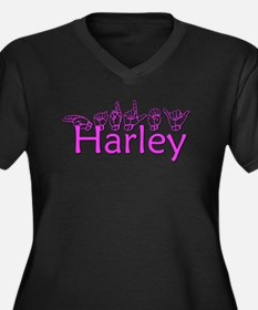 Harley Women's Plus Size V-Neck Dark T-Shirt