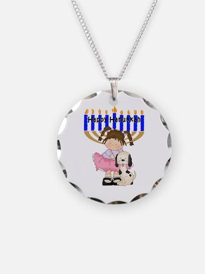 Happy Hanukkah Friends Necklace