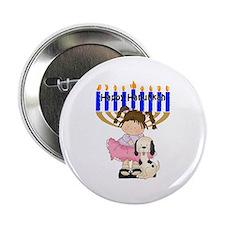 """Happy Hanukkah Friends 2.25"""" Button"""