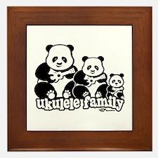 Ukulele Panda Family Framed Tile
