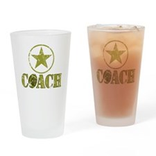 Football Coach - General's Star Drinking Glass