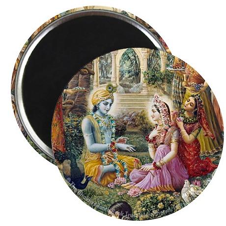 Radha & Krishna Speaking Magnet