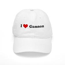 I Love Gannon Baseball Cap