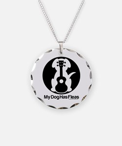 My Dog Has Fleas Ukulele Necklace Circle Charm