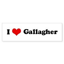 I Love Gallagher Bumper Bumper Sticker