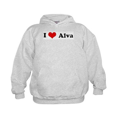 I Love Alva Kids Hoodie