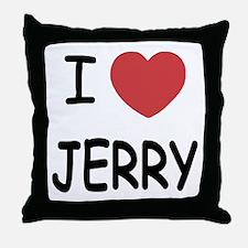 I heart jerry Throw Pillow