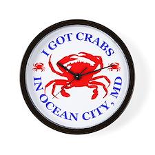 I got crabs in Ocean City Wall Clock