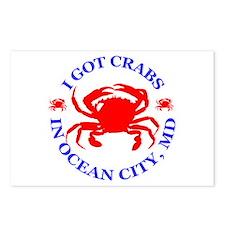 I got crabs in Ocean City Postcards (Package of 8)