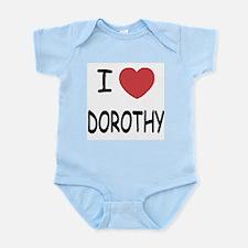 I heart dorothy Infant Bodysuit