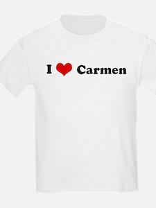 I Love Carmen Kids T-Shirt